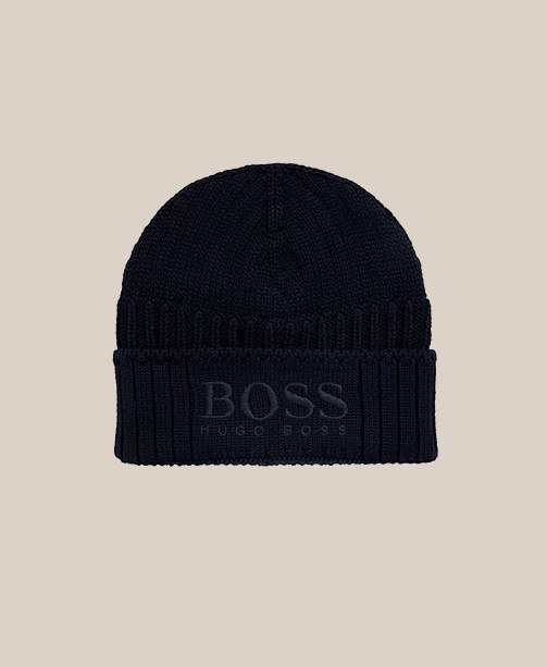 dunkelblaue Mütze von Boss