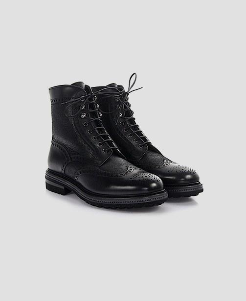 Santoni Stiefel schwarz