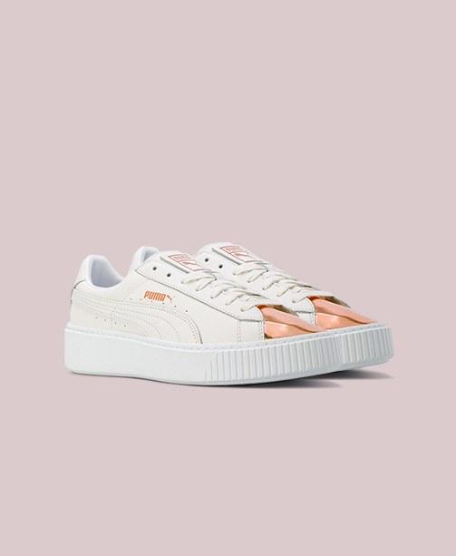 Puma Sneakers Weiß und Gold Metallic