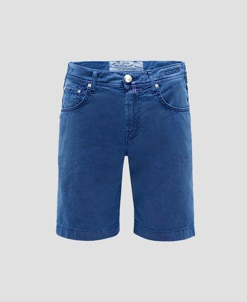 blaue Bermuda-Shorts