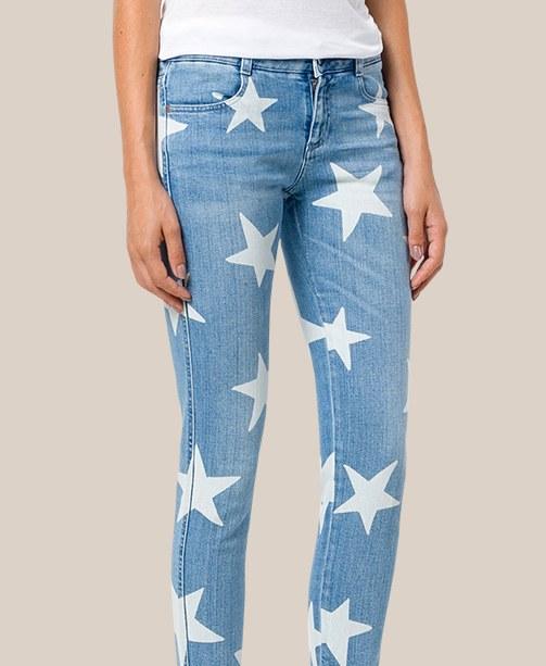 Jeans mit Sternen Stella McCartney