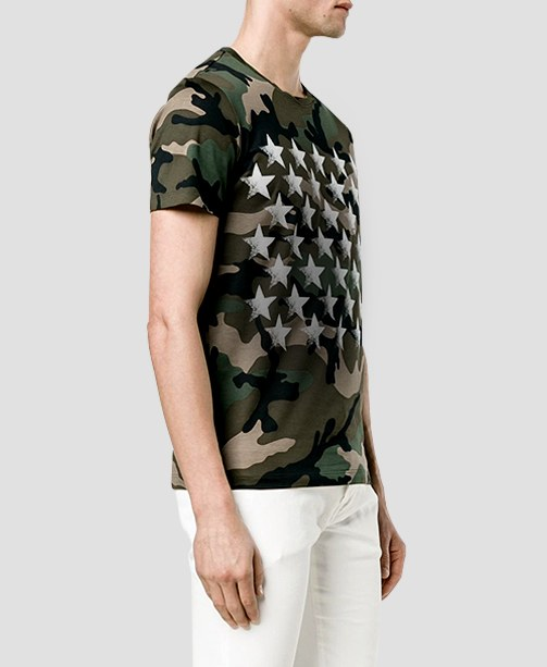 Valentino T-Shirt mit Camouflage-Muster