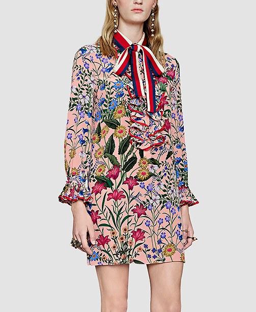 Gucci Kleid mit Blumenmuster