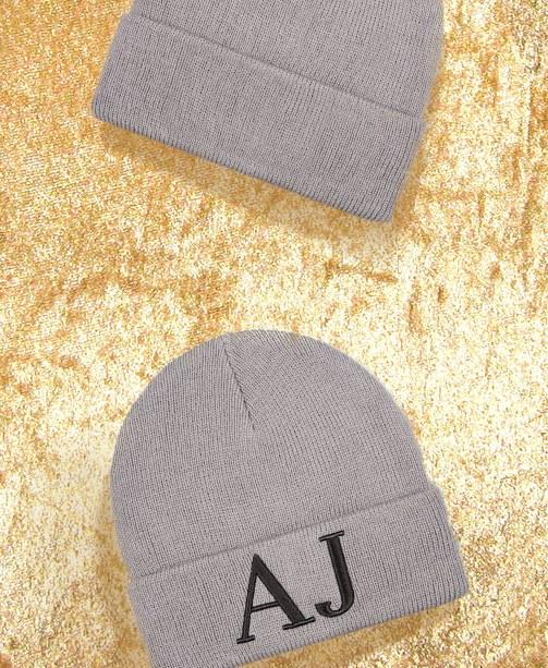 graue Mütze von Armani Jeans