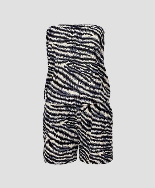 Jumpsuit mit Zebra-Print