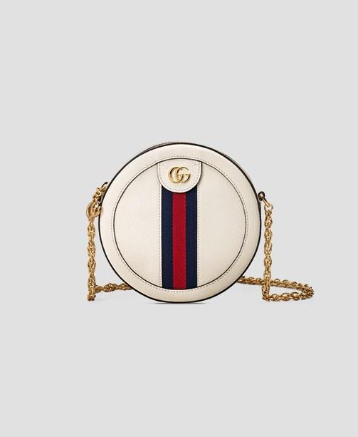 Gucci-Tasche weiß rund